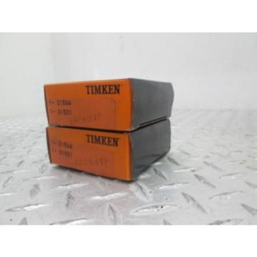 TIMKIN TAPERED ROLLER BEARINGS 1-31594 1-31521 62154158F LOT OF TWO