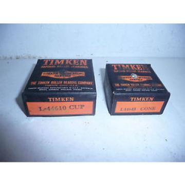 Timken L44643/L44610, Tapered Roller Bearing Cone and Cup Set