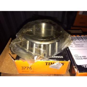 (1) Timken 3776 Tapered Roller Bearing, Single Cone, Standard Tolerance, Straigh