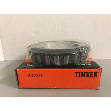 "NIB Timken 34301 Tapered Roller Bearing Cone 3"" Bore"