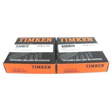 LOT OF 2 NIB TIMKEN JLM104910 BEARING TAPERED ROLLER SINGLE CUP