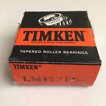 Timken Tapered Roller Bearings LM12711 New Sealed.