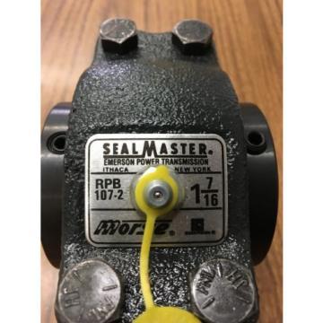 "SEALMASTER RPB 107-2 1-7/16""dia Bore Tapered Roller Pillow Block Bearing"