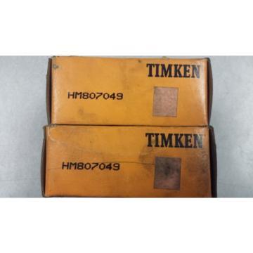 HM807049 Timken Tapered Roller Bearing