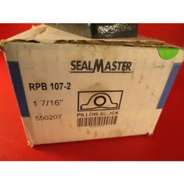 "SEAL MASTER RPB 107-2, 1-7/16""dia Bore Tapered Roller Pillow Block Bearing"