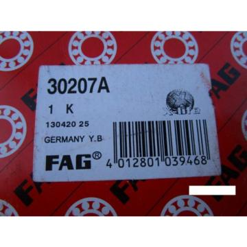 Fag 30207A Tapered Roller Bearing Cone & Cup Set(SKF, NSK ,SNR,KOYO, NTN)