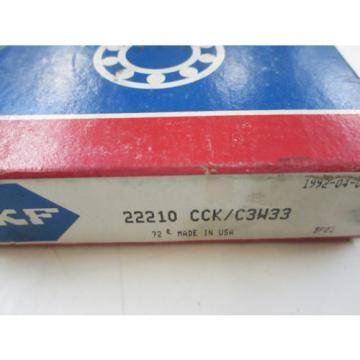 *NEW* SKF 22210 CCK/C3W33 SPHERICAL ROLLER BEARING TAPER BORE