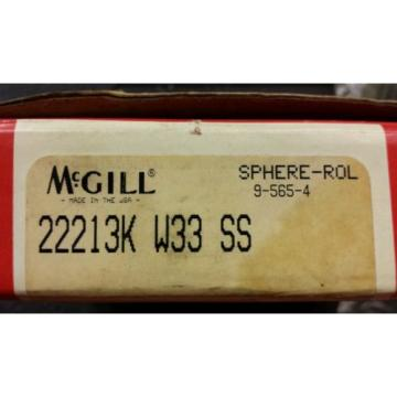MCGILL 22213K W33 SS CAM ROLLER PRECISION BEARING SPHERE-ROL, NEW