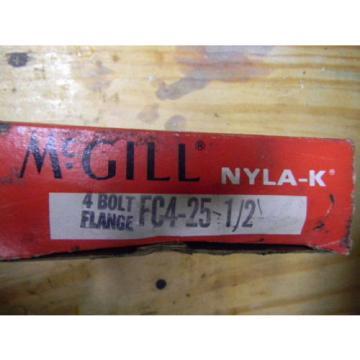 ONE McGILL FC4-25-1/2 FOUR BOLT NYLA-K FLANGE BEARING NIB