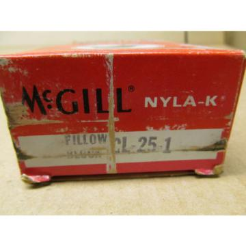 """1 NIB MCGILL CL-25-1 CL251 CL25-1 PILLOW BLOCK BEARING 1"""""""