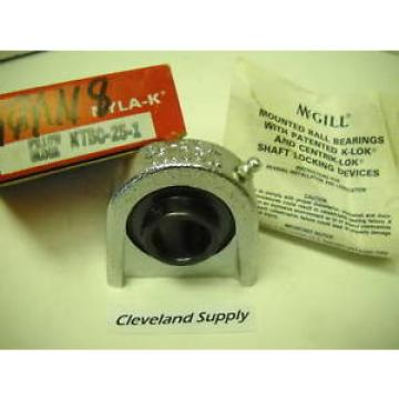 "MCGILL NTBC-25-1 NYLA-K PILLOWBLOCK BEARING 1"" BORE NEW CONDITION IN BOX"