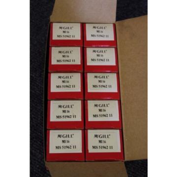 McGill Precision Bearings MI 16, MS 51962 11