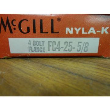 McGILL NYLA-K 4 BOLT FLANGE BEARING  FC4-25-5/8 ............... WQ-137