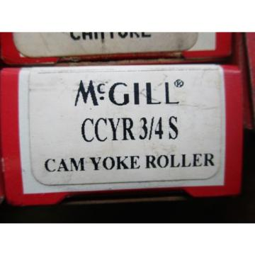 NEW MCGILL LOT OF 8 CAM YOKE ROLLER BEARING CCYR 3/4S