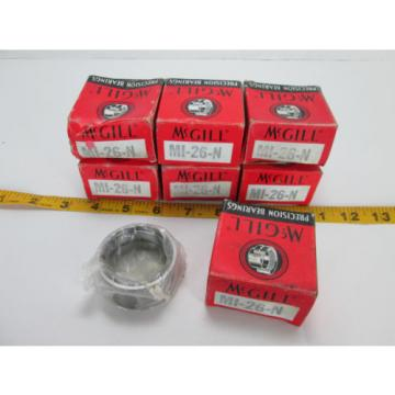 "Lot of 7 McGill Precision Bearings Inner Ring MI-26-N NOS 2"" OD 1-5/8"" ID T"