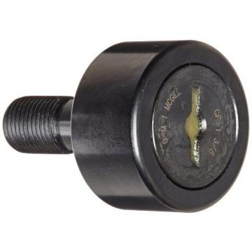 McGill CF1 3/8 Cam Follower, Standard Stud, Unsealed/Slotted, Inch, Steel,