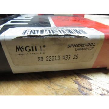 McGill SB 22213 W33 SS Spherical Bearing  NIB NOS (A4)