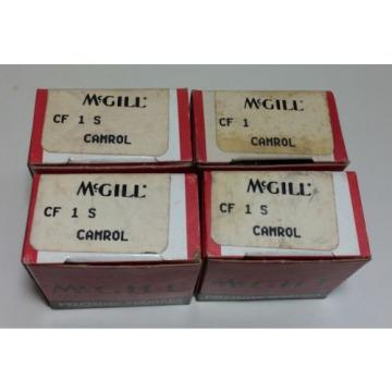 McGill Precision Bearings CamRol CF1S Cam Follower NIB Set Of 4