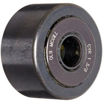 "McGill CYR1 3/8 Cam Yoke Roller, Unsealed, Inch, Steel, 1-3/8"" Roller Diameter,"