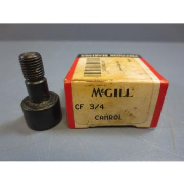 """1 Nib McGill CF-3/4 Cam Follower Bearing RD .7500"""" RW .5000"""" Stud Dia .3750"""" New"""