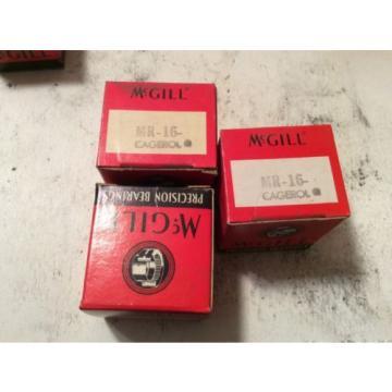 3-McGILL /bearings #MR-16, 30 day warranty, free shipping lower 48!
