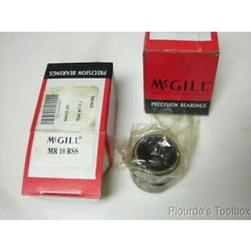 "Lot of (2) New McGill Cagerol MR-10-RSS Needle Bearings, 5/8"" x 1-1/8"" x 1"""