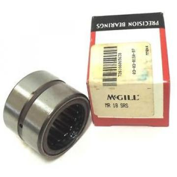 NIB MCGILL MR18SRS BEARING CAGED ROLLER 1-1/8 X 1-5/8 X 1-1/4INCH, MR-18-SRS