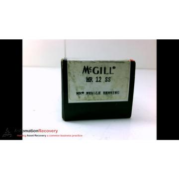 MCGILL MR 12 SS PRECISION NEEDLE ROLLER BEARING, NEW #183482