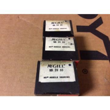3-McGILL bearings#MR 20 SS ,Free shipping lower 48, 30 day warranty!