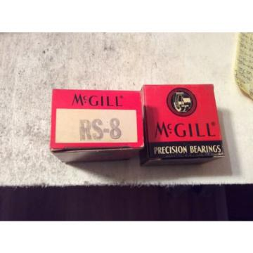 2-MCGILL  /bearings #RS-8  ,30 day warranty, free shipping lower 48!