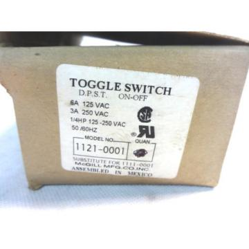 NEW MCGILL 1121-0001 DPST ON-OFF TOGGLE SWITCH