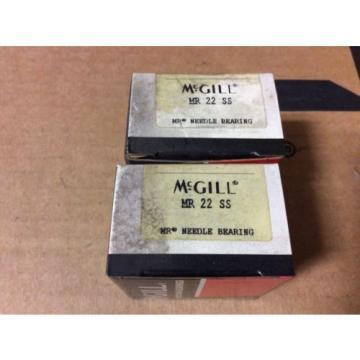 2-McGILL bearings#MR 22 SS ,Free shipping lower 48, 30 day warranty!