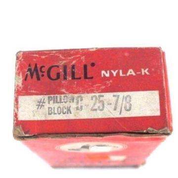 LOT OF 2 NEW MCGILL C-25-7/8 PILLOW BLOCK NYLA-K