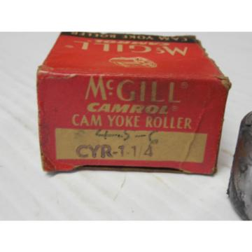 NEW MCGILL CAM YOKE ROLLER CYR 1-1/4  CYR1-1/4