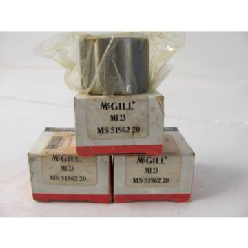 Lot of (3) MCGILL BALL BEARING MI 23 MS 51962 20 NEW IN FACTORY BOX
