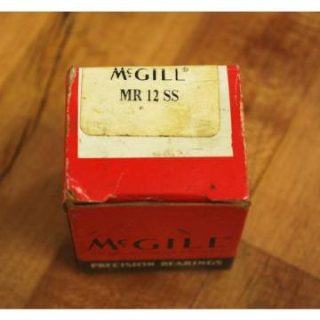 McGill MR12SS Caged Needle Roller Bearing MR12SS - NEW