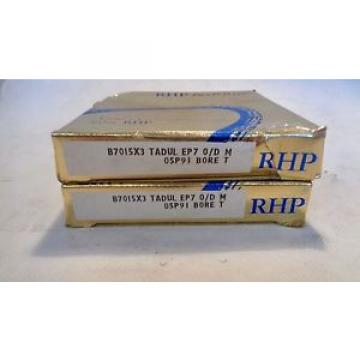 Belt Bearing NEW  680TQO970-1   SET OF (2) RHP B7015X3 TADUL-EP7-O/D-M   SUPER PRECISION BEARING