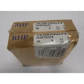 Industrial TRB RHP  LM287849D/LM287810/LM287810D  ANGULAR CONTACT BALL BEARING LOT OF 2  7910ETDULP4 NIB
