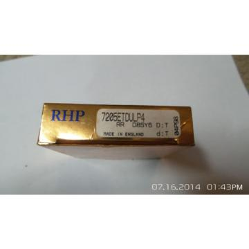 Belt Bearing RHP  840TQO1170-1  7205ETDULP4 Super Precision Bearing