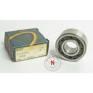 Roller Bearing RHP  EE641198D/641265/641266D  3203-C3 DOUBLE ROW ANGULAR CONTACT BEARING, 17mm x 40mm x 17.5mm, OPEN