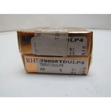 Industrial TRB RHP  M282249D/M282210/M282210D  7905ETDULP4 Super Precision Bearing Set of 2 NIB