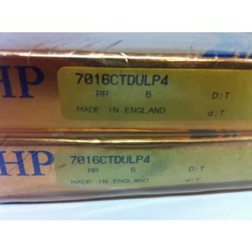 Belt Bearing RHP  475TQO660-1  7016CTDULP4 Super Precision Bearing Set of 2 each