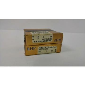 Industrial Plain Bearing RHP  510TQO655-1  7007ETDULP4 PRECISION BEARINGS SET