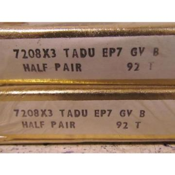 Inch Tapered Roller Bearing RHP  EE749259D/749334/749335D  7208X3 TADU EP7 GV B 92T Super Precision Bearing x2