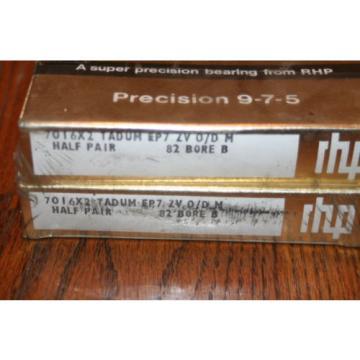 Belt Bearing RHP  M274149D/M274110/M274110D  7016X2 TADUM EP7 ZV Super Precision Bearings (CTDUMP4Y, 2MM9116WIDUM)  NEW