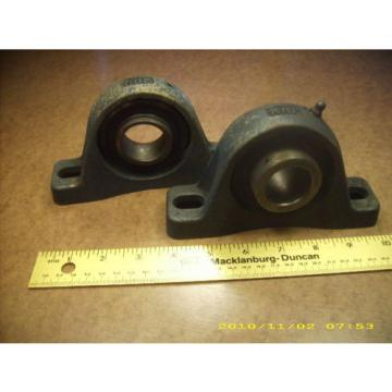"Belt Bearing (2)  655TQO935-1  used RHP pillow block bearing units NP5 MP2   1 1/4"" bore"