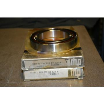 Roller Bearing (Lot  EE655271DW/655345/655346D  of 2) RHP Preceision 9-7-5 Bearings, 7015X2 TAU EP7 GV 0/D M, 72 BORE T