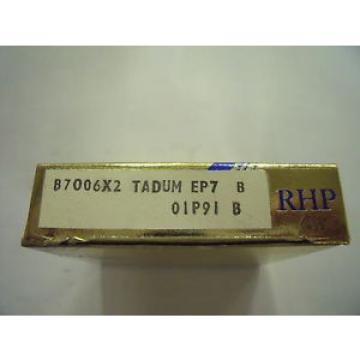 Inch Tapered Roller Bearing NEW  600TQO980-1  RHP B7006X2TADUMEP7 Single row angular contact ball bearing