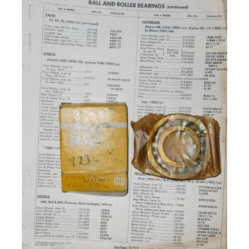 Tapered Roller Bearings NOS  EE640193D/640260/640261D  RHP LJ1-1/8N Bearing. Rootes # 9197031. Rear O/D bearing Sunbeam Alpine -->
