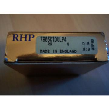 Industrial TRB 1  600TQO980-1  RHP 7905CTDULP4 SUPER PRECISION BEARINGS 25x42x9